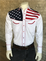 Rockmount Ranch Wear Men's Vintage Western Shirt: Fancy Show Your Colors Flag Design