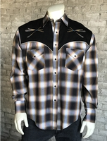 B Rockmount Ranch Wear Men's Vintage Western Shirt: Follow Your Arrow Plaid Backordered