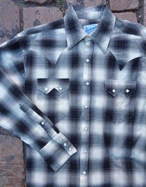 Rockmount Ranch Wear Men's Western Shirt: A Shadow Plaid Black 2XL,Tall Back Ordered