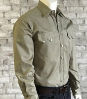 Rockmount Ranch Wear Men's Western Shirt: Dress Shirt Herringbone Shirt Khaki S-XL