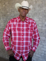 Rockmount Ranch Wear Men's Western Shirt: A Shadow Plaid Red Backordered