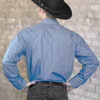 Rockmount Ranch Wear Men's Western Shirt: Dress Shirt Pima Cotton Periwinkle