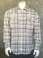 Rockmount Ranch Wear Men's Western Shirt: A Plaid Cotton Brown S-2XL