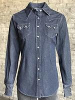 Rockmount Ranch Wear Ladies' Western Shirt: Denim Pinstripe Backordered