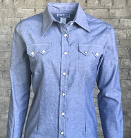 Rockmount Ranch Wear Ladies' Western Shirt: Denim Chambray 2XL Backordered