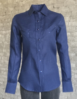 Rockmount Ranch Wear Ladies' Western Shirt: Linen Blue