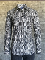 Rockmount Ranch Wear Ladies' Western Shirt: A Print Arrowhead Graphite S-XL