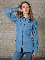 Rockmount Ranch Wear Ladies' Western Shirt: Denim Cotton