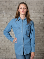 Rockmount Ranch Wear Ladies' Western Shirt: Denim Cotton 2XL