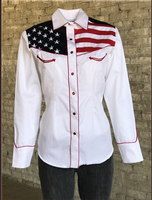Rockmount Ranch Wear Ladies' Vintage Western Shirt: Show Your Colors Flag Shirt
