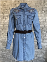 Rockmount Ranch Wear Ladies' Vintage Western Dress: Flying Swallow