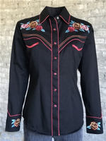 Rockmount Ranch Wear Ladies' Vintage Western Shirt: A Fancy Roses Black