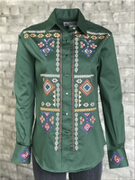 Rockmount Ranch Wear Ladies' Vintage Western Shirt: A Green Diamond