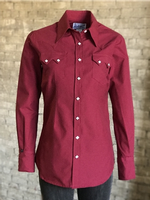 Rockmount Ranch Wear Ladies' Western Shirt: Cotton Mini Check Cherry