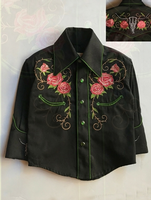Rockmount Ranch Wear Children's Vintage Western Shirt: A Roses Longhorn Steer