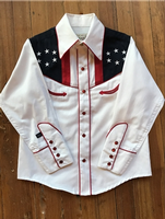 Rockmount Ranch Wear Children's Vintage Western Shirt: Flag and Eagle