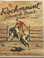 A Rockmount Ranch Wear Tea Towel: Signature Bucking Bronc