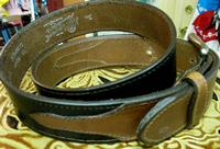 Rockmount Ranch Wear Accessory: Buckle w Belt Leather Black w Tan Billets 30-44