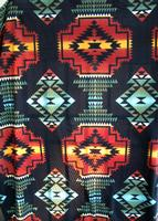 A Rockmount Ranch Wear Blanket: Native American Design Black Rust Turq
