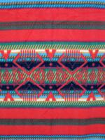 A Rockmount Ranch Wear Blanket: Classic Native American Pattern Red and Green