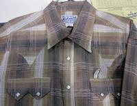Rockmount Ranch Wear Men's Western Shirt: A Stripe Cotton Hombre Brown 2X and Talls