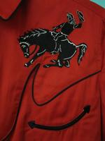 Rockmount Ranch Wear Children's Vintage Western Shirt: Bucking Broncs Red