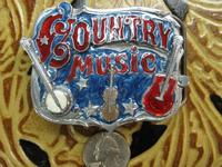 Rockmount Ranch Wear Accessory: Buckle Trophy Enamel Country Music