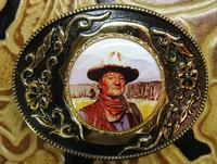 Rockmount Ranch Wear Accessory: Bolo Tie John Wayne The Duke on Black Cord