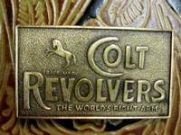 Rockmount Ranch Wear Accessory: Buckle Trophy Brass Colt Revolvers