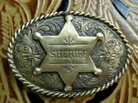 Rockmount Ranch Wear Accessory: Buckle Trophy Brass Oval Sheriff Badge
