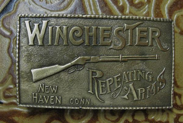 Rockmount Ranch Wear Accessory: Buckle Brass Winchester Repeating Arms
