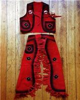 Rockmount Ranch Wear Children's Western Style: Vest and Chaps Stars Red