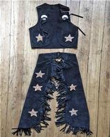 Rockmount Ranch Wear Children's Western Style: Vest and Chaps Stars Black