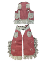 Rockmount Ranch Wear Children's Western Style: Vest and Chaps Pink