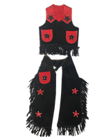Rockmount Ranch Wear Children's Western Style: Vest and Chaps  Red and Black