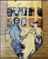 Rockmount Ranch Wear Accessory: Necktie Donna Howell-Sickles Cow Dog School Silk
