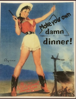 A Rockmount Ranch Wear Tea Towel: Make Your Own Damn Dinner