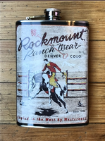 A Rockmount Ranch Wear Flask: Rockmount Logo