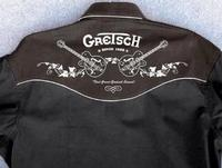 Rockmount Ranch Wear Men's Vintage Western Shirt: A Gretsch Guitar Black 2XL