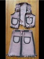 Rockmount Ranch Wear Children's Western Style: Skirt and Vest Set Pink