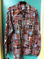 ZSold Rockmount Ranch Wear Men's Western Shirt: A Patchwork Blue L SOLD