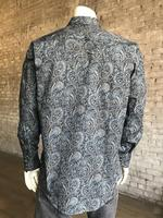 Rockmount Ranch Wear Men's Western Shirt: Print A Paisley Navy 2X