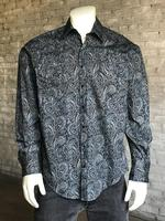 Rockmount Ranch Wear Men's Western Shirt: Print A Paisley Navy