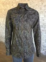 Rockmount Ranch Wear Ladies' Western Shirt: A Print Paisley Brown