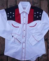 Rockmount Ranch Wear Men's Vintage Western Shirt: Fancy Show Your Colors w Eagle 2X
