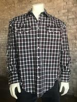 ZSold Rockmount Ranch Wear Men's Western Shirt: A Plaid Tartan SOLD
