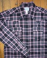 Rockmount Ranch Wear Men's Western Shirt: A Plaid Rayon Blend Black Pink S-2XL