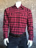 Rockmount Ranch Wear Men's Western Shirt: A Plaid Cotton Red
