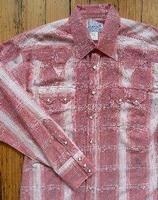 ZSold Rockmount Ranch Wear Men's Western Shirt: A Stripe Cotton Hombre Red S-XL SOLD