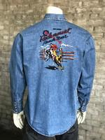 B Rockmount Ranch Wear Men's Vintage Western Shirt: Rockmount Bronc Denim 2X
